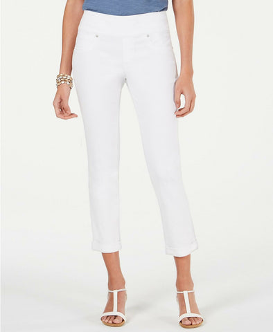 Style & Co. Women's Pull On Boyfriend Jeans. 100045823 White L