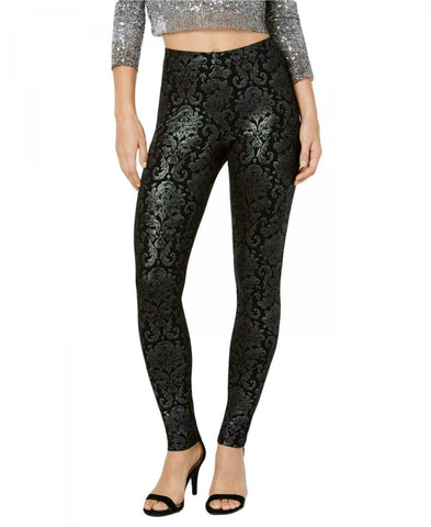 HUE Women's Metallic-Tapestry Printed Leggings. U19864H