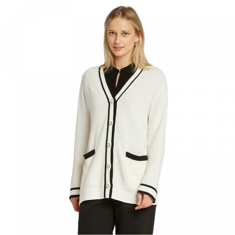 Who What Wear Women's Long Sleeve Button Front Varsity Cardigan Sweater