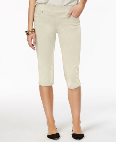 Style & Co. Women's Petite Avery Pull-On Skimmer Jeans Stonewall PXL