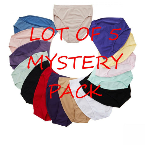 Rhonda Shear Women's Ahh Brief Panties LOT OF 5 Mystery Set