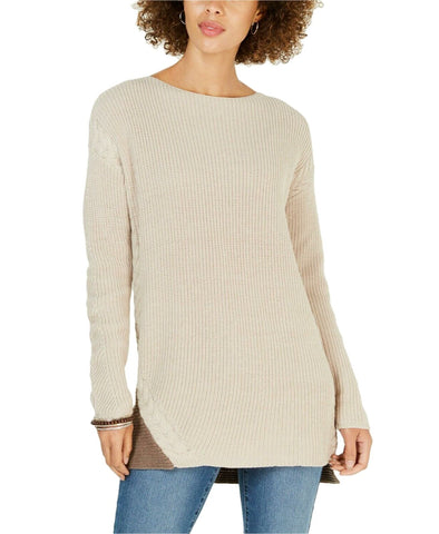 Style & Co. Women's Petite Colorblocked Tunic Sweater Pullover. 100031654PT