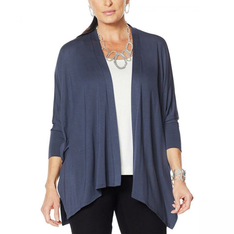 MarlaWynne WynneLayers Women's Unconstructed Open Front Knit Cardigan