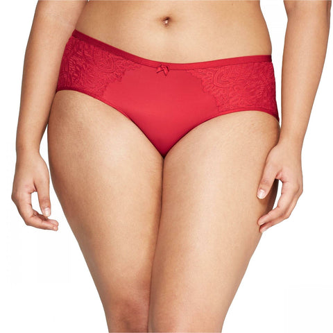 Auden Women's Bonded Micro Hipster Panties with Lace