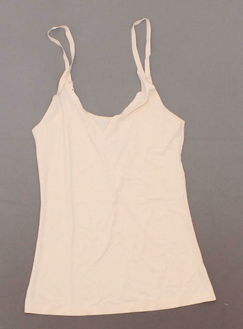 Rhonda Shear Women's Lightweight Everyday V Neck Camisole Peachy Nude Small