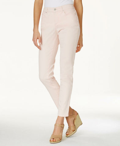 Charter Club Women's Bristol Skinny Ankle Jeans Misty Pink 6