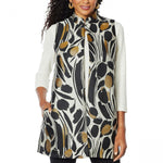 Slinky Brand Women's Jacquard Duster Vest With Pockets