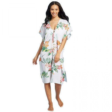 Cover 2 Cover Women's Smocked Back Kimono Cover Up