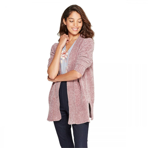 A New Day Women's Chenille Open Cardigan Sweater