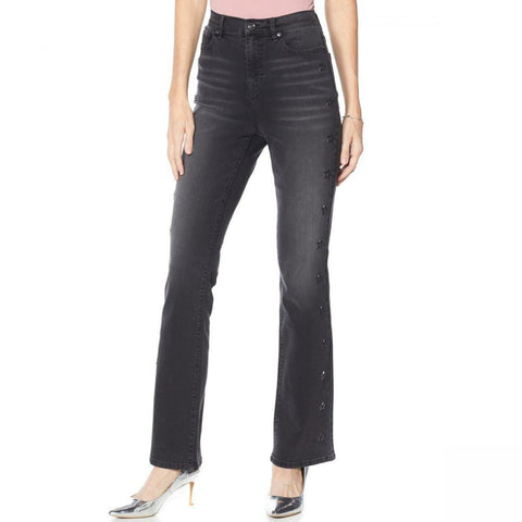 DG2 by Diane Gilman Women's Star Classic Stretch Boot Cut Jeans