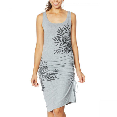 Skinnygirl Women's Connie Side Ruched Midi Tank Dress