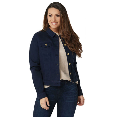 Isaac Mizrahi Live! Women's TRUE DENIM Button Up Jean Jacket
