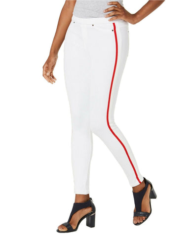 HUE Women's Racer Stripe Original Denim Leggings. U20457H