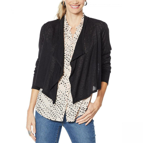 G by Giuliana Women's Cropped Cascade Hacci Cardigan
