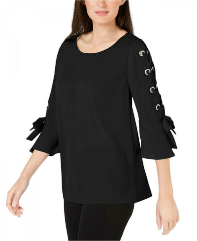 JM Collection Women's Laced Grommet-Sleeve Blouse. 100039839MS