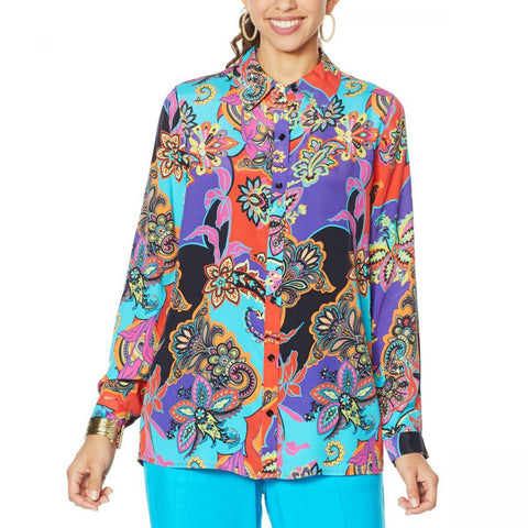 DG2 by Diane Gilman Women's Signature Collection Silk Blend Top