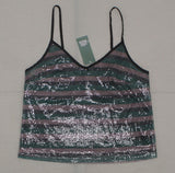 Wild Fable Women's Striped Sequin Camisole Cami Top Shirt