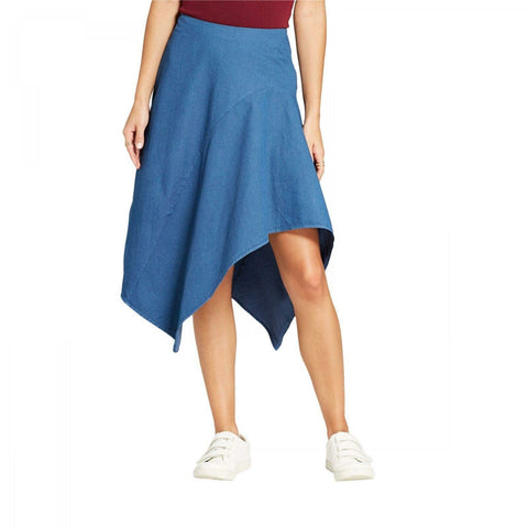Mossimo Women's Asymmetrical Denim Skirt