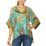 Democracy Women's Plus Size East West Tassel Top
