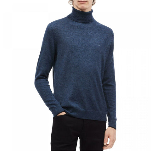 Calvin Klein Men's Solid Merino Wool Pullover Turtleneck Sweater