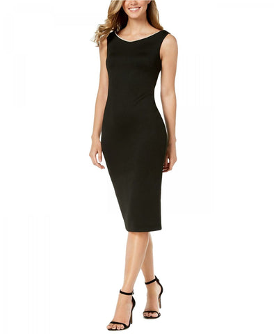 Calvin Klein Women's Imitation Pearl-Trim LBD Scuba Dress. CD8M19ND Black 6