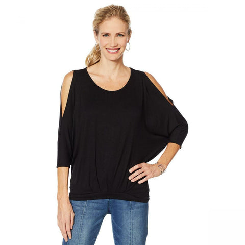 DG2 by Diane Gilman Women's Pleat Front Dolman Top