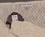 Knox Rose Women's Long Sleeve Pointelle Drape Front Cardigan Sweater