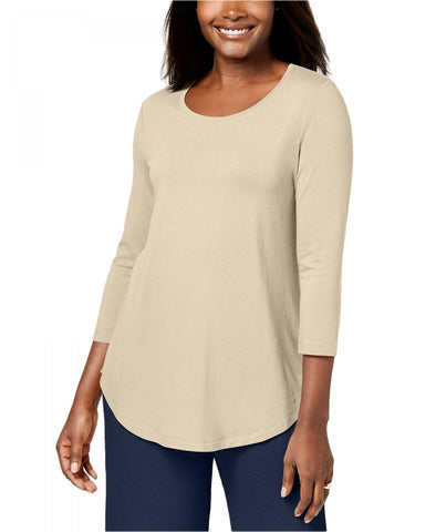 JM Collection Women's 3/4 Sleeve Scoop-Neck Top. 84987SA460