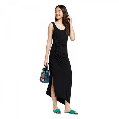 A New Day Women's Sleeveless Asymmetrical Side Shirred Knit Dress