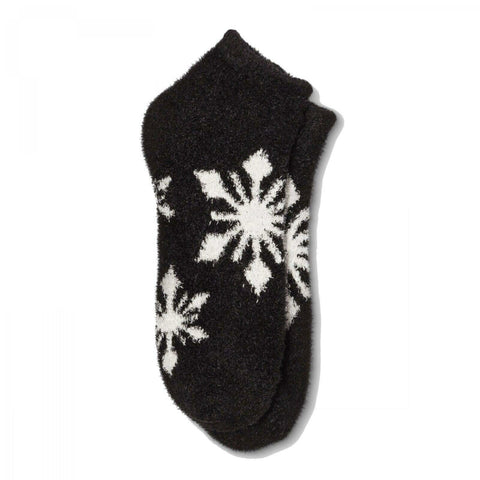 Gilligan & O'Malley Women's Fuzzy Snowflake Cozy Low Cut Socks