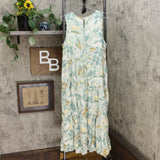 A New Day Women's Floral Print Sleeveless Tiered Midi Dress