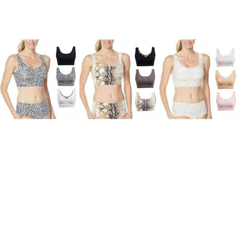 Rhonda Shear Plus Size 3 Pack Body Bras With Removable Pads