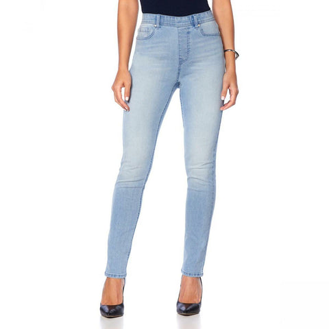 DG2 by Diane Gilman Women's Tall Classic Stretch Denim 5-Pocket Jeggings