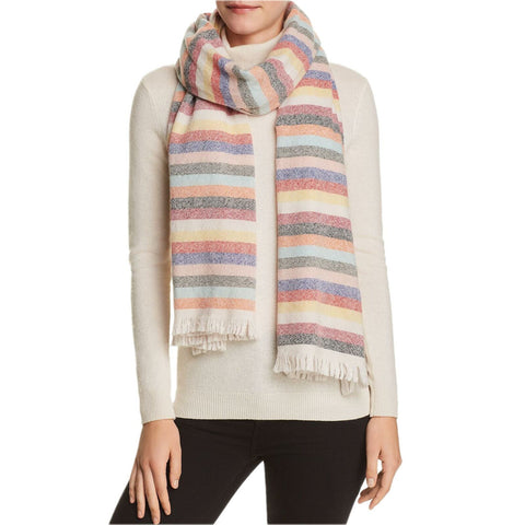 San Patrignano Women's Wool Cashmere Multi Stripe Oblong Scarf