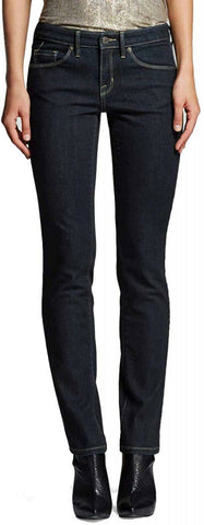 Mossimo Women's Mid Rise Straight Leg Jeans Dark Wash 2 Short