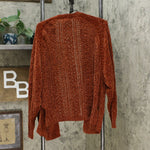 Xhilaration Women's Knit Open Front Sweater Cardigan Rust XS/S
