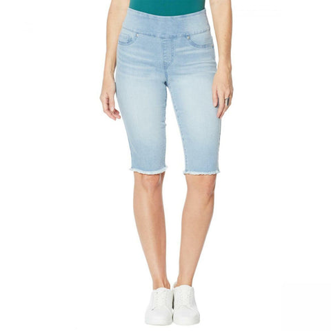 DG2 by Diane Gilman Women's Classic Stretch Pull On Bermuda Shorts