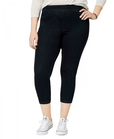 HUE Women's Plus Size Original Denim Capri Leggings. U19255QH