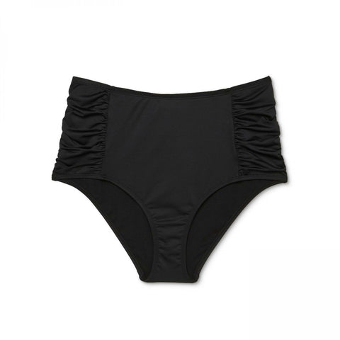 Clean Water Women's Ruched High Waist Bikini Bottom