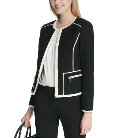 Calvin Klein Women's Piped-Trim Jacket. S87JU20B