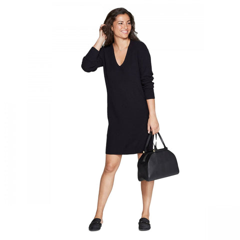A New Day Women's Long Sleeve V-Neck Sweater Dress