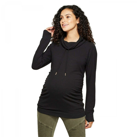 Isabel Maternity by Ingrid & Isabel Long Sleeve Cowl Neck Sweatshirt