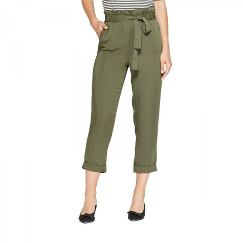 Who What Wear Women's Straight Leg Relaxed Cropped Trouser Pants