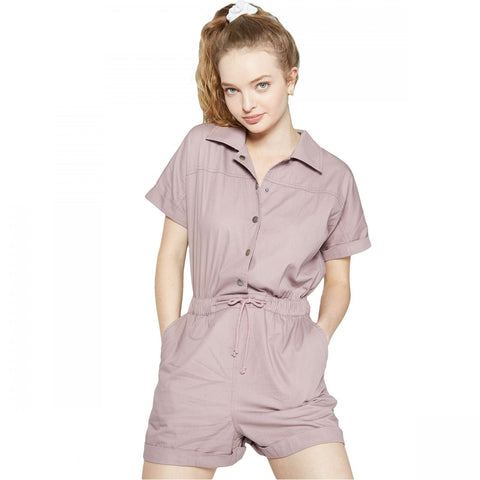 Wild Fable Women's Short Sleeve Button Front Utility Romper