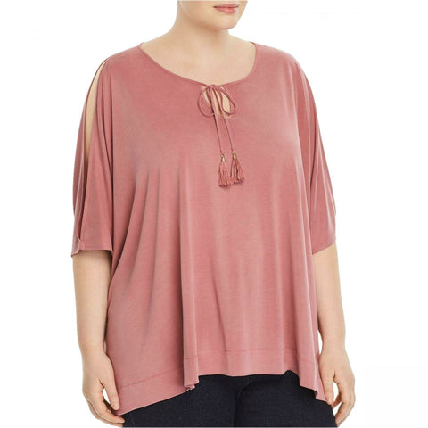 Love Scarlett Women's Plus Size Kimono Sleeve Cold-Shoulder Top