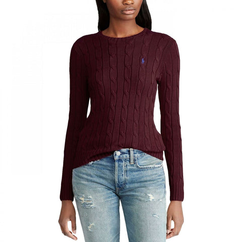 Polo Ralph Lauren Women's Cable Knit Cotton Pullover Sweater