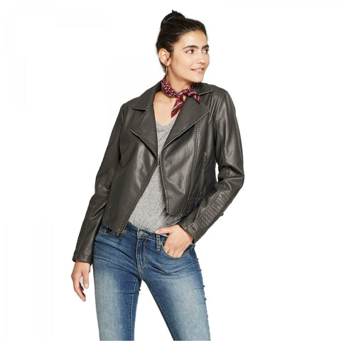 Universal Thread Women's Faux Leather Moto Jacket