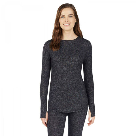 Warm Essentials Women's Sweater Knit Long Sleeve Thermal Top