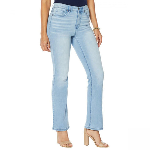 DG2 by Diane Gilman Women's Plus Size Classic Stretch Boot Cut Jeans