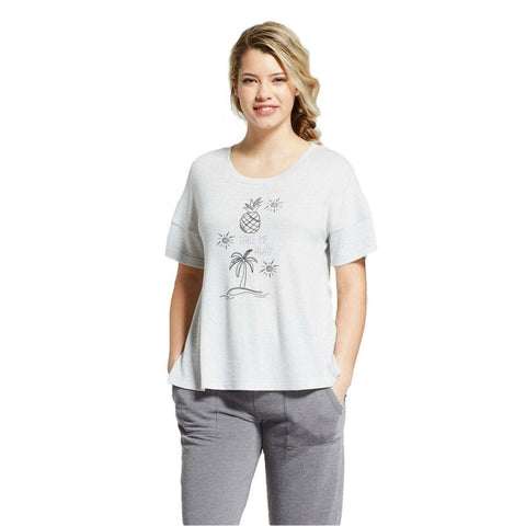 Xhilaration Sleepwear TAKE ME AWAY Short-Sleeve Sleep Shirt Pajama Top